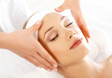Image Facial with Product from spa essential-Singapore