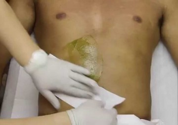 Image Waxing for Male Stomach