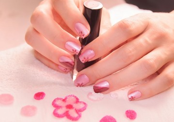 Image French/Flowers/Nail Polish Menicure