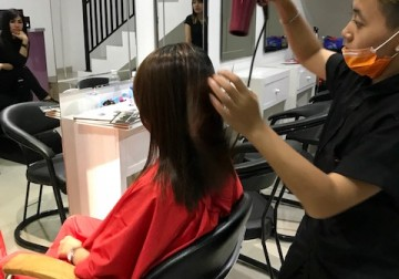 Image Hair Wash + Blow Dry / Straightening (Short Hair)